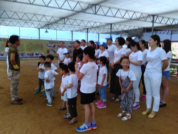 vivo员工带孩子来松湖生态园参加亲子拓展活动