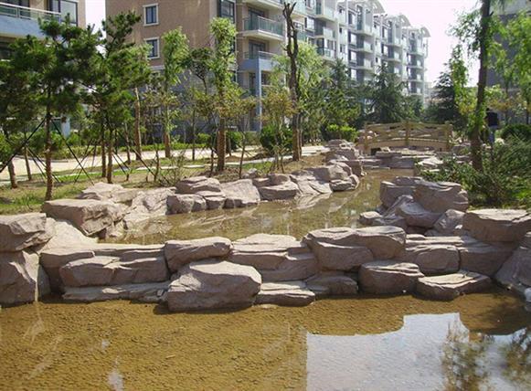 塑石驳岸图片