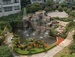 假山噴泉圖片