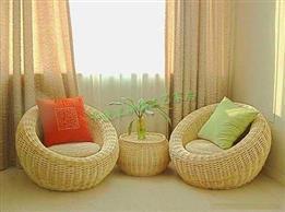 室内座椅-纯藤制午休躺椅,款式简单