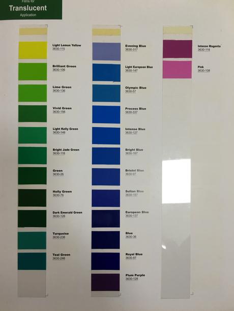 美国视觉高 3M 3630-108 彩色透光贴膜