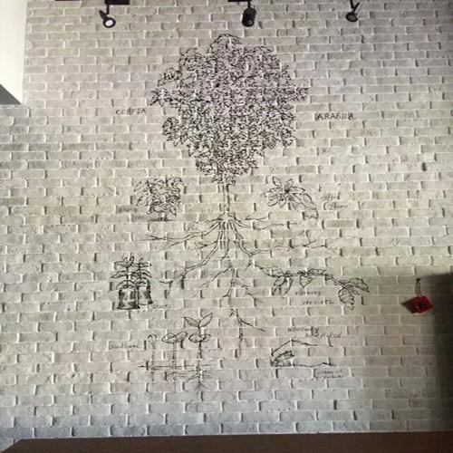 深圳华强北星巴克咖啡店手绘壁画