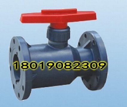 连接方式:法兰连接 流动方向:单向 作用:开关 frpp塑料法兰球阀图片