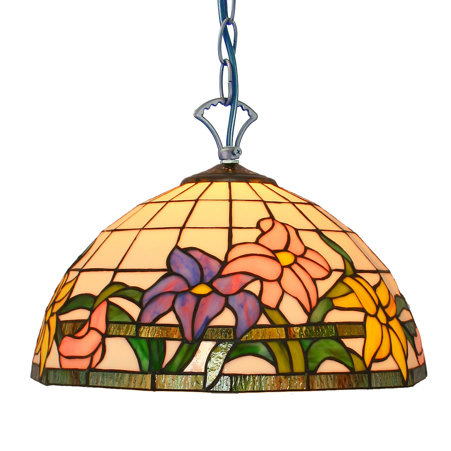 PL120003 flower glass stained