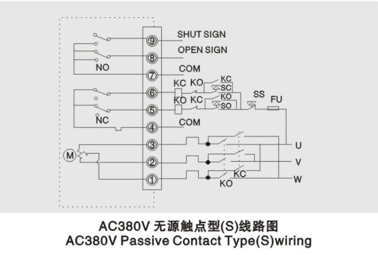 三相控制ac380v电动蝶阀执行器接线图图片
