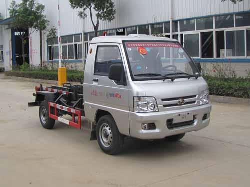 小型国五车厢可卸式垃圾车 福田2-3方钩臂式垃圾车