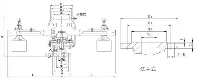ga44h-16c双杠杆安全阀dn80图片