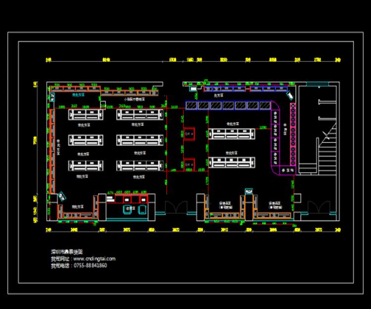 药店货架平面图