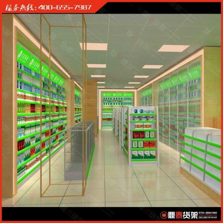 药店货架效果图