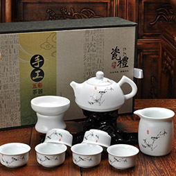 最好的瓷礼 手工五彩茶具