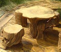 仿木桌椅的制作