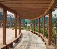 仿木长廊的制作