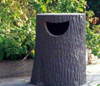 仿木垃圾桶的制作