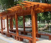 仿木花架的制作
