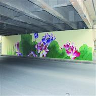 手绘城市文化墙