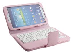 Samsung T310 Litchi Pattern Bluetooth Keyboard case-SA08B
