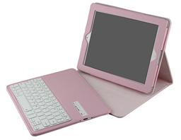 Wireless  Keyboard for ipad2/3/4 with Magnetic PU Lichi Leather Case IP234