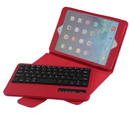 Bluetooth Keyboard For IPad Mini1/2/3/4 with Litchi pattern smart cover SPM01
