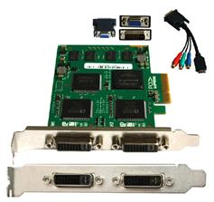 2CH dvi video card/video capture card/dvr video card supports fusion splicing&Streaming TC-2000P