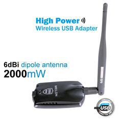 Wireless adpter/USB adpter/wifi adpter with 6dBi omni antenna&2.4GHz WLAN card N2000