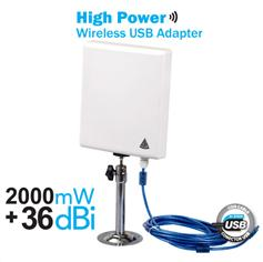 Wireless adpter/USB adpter/wifi adpter 36dBi outdoor wifi antenna with Ralink3070 150Mbps N9
