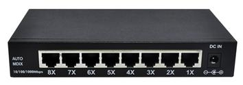 Router switch/network switch/ip switch Metal 8 Port Gigabit Desktop Web Smart Switch BL-SG108M