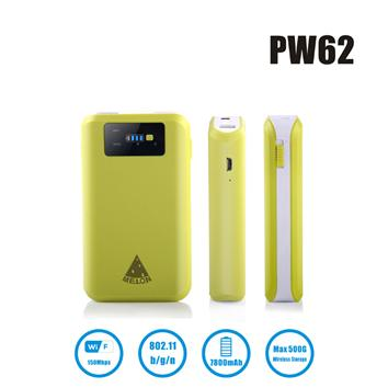 Portable Wireless adpter/USB adpter/wifi adpter with built-in 7800mah battery PW62