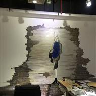 广州纺织城大服装公司墙体彩绘