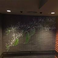 广州星巴克保利克维店手绘壁画