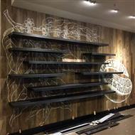 湛江世贸大厦星巴克店墙绘壁画