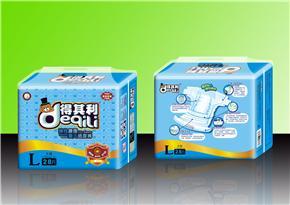得其利28片L码芯体蓝芯片透气纸尿裤(货号:DQL626)
