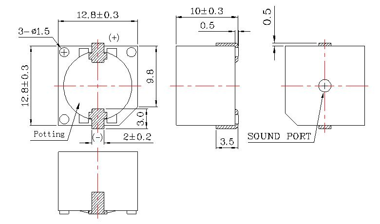 bjps-smd贴片式无源蜂鸣器