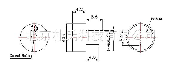 电磁式有源蜂鸣器 BJPS-PBZ09042D2805YB 产品编号:09042最小有源蜂鸣器 产品名称: 电磁式有源蜂鸣器 产品规格: 9(直径)*4.2(高度)mm 朴氏公司蜂鸣器特点:抗跌落,耐高温,低电流,节能。 电磁式有源蜂鸣器 BJPS-PBZ09042D2805YB 电磁式有源蜂鸣器 BJPS-PBZ09042D2805YB 产品说明: DIMEMSIONS Unit:mm Tolerance:±0.