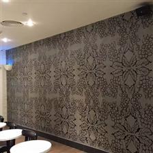 广州花城汇星巴克手绘墙体壁画