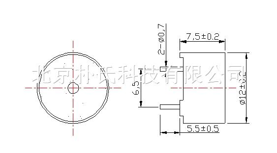 带针无源蜂鸣器 bjps-m12075cy4012p