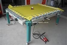 双铝夹头拉网机Pneumatic screen printing stretching machine,screen printer stretching machine,mesh stretchin