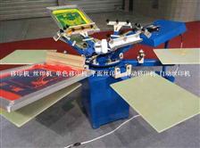 HS-1124手动4种颜色T恤丝网印刷机
