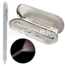 万里集团直营三合一激光金属触屏电容笔 手写LED灯笔 多功能金属圆珠笔