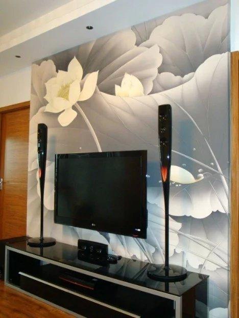 电视背景墙彩绘_凯里市彩煌720手绘艺术工作室