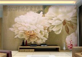 客厅背景墙彩绘
