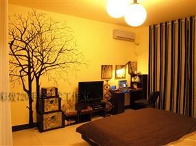 卧室背景墙手绘