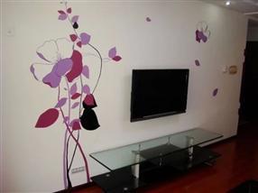 电视背景墙彩绘
