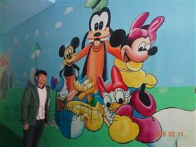 黔东南丹寨县幼儿园墙体彩绘卡通漫画手绘墙画