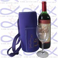 CBH020T wine cooler bag with lanyards