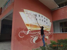 贵州校园文化墙教学手绘墙画-贵阳手绘文化墙-贵阳文化墙彩绘720彩煌艺术