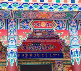 凯里市古建筑彩绘-凯里古建彩画-黔东南州古建筑上色 民族文化彩绘