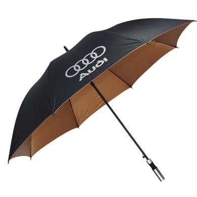 【太阳伞厂家】27寸全玻纤防风高尔夫广告伞(手柄配色)    广州雨伞厂