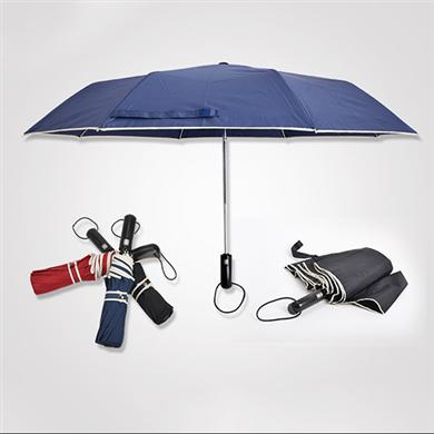 【太阳伞厂家】21寸三折镀镍全自动广告雨伞批发定做   广州雨伞厂