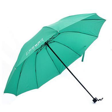 【太陽傘廠家】21寸10K三折加固銀行廣告雨傘批發定做  廣州雨傘廠