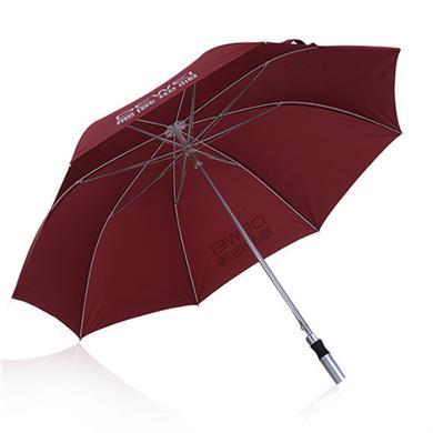 【太陽傘廠家】27寸鋁合金中棒玻纖骨高端商務廣告傘 中山雨傘廠